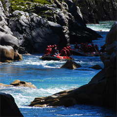 Whitewater rafting in Baraloche, Patagonia